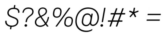 Weissenhof Grotesk Light Italic Font OTHER CHARS