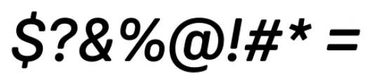 Weissenhof Grotesk Medium Italic Font OTHER CHARS
