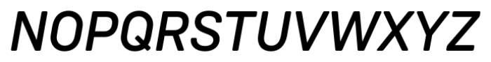 Weissenhof Grotesk Medium Italic Font UPPERCASE