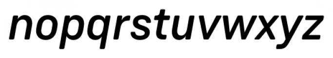 Weissenhof Grotesk Medium Italic Font LOWERCASE