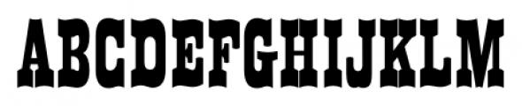 Westward JNL Regular Font UPPERCASE
