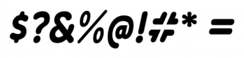 Wevli Condensed Bold Italic Font OTHER CHARS