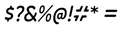 Wevli Condensed Italic Font OTHER CHARS