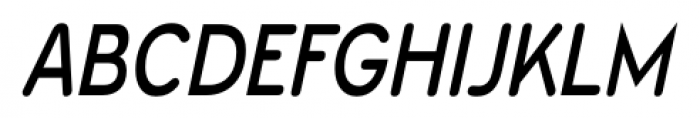 Wevli Condensed Italic Font UPPERCASE