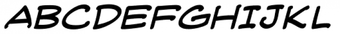 Web Letterer Pro BB Italic Font UPPERCASE