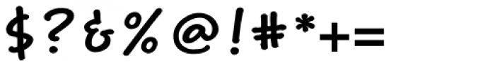 Weber Hand Std Bold Font OTHER CHARS