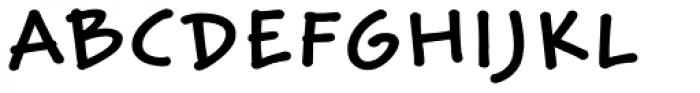 Weber Hand Std Bold Font UPPERCASE