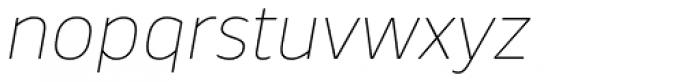 Webnar Thin Italic Font LOWERCASE