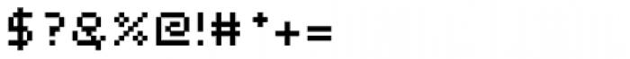 Webpixel bitmap Medium Font OTHER CHARS
