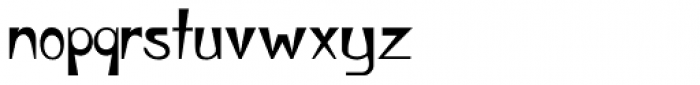 Wedge Gothic ML Font LOWERCASE
