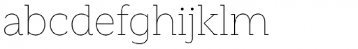 Weekly Thin Font LOWERCASE