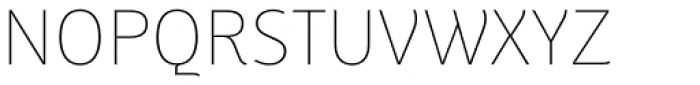Weitalic Extra Light Font UPPERCASE
