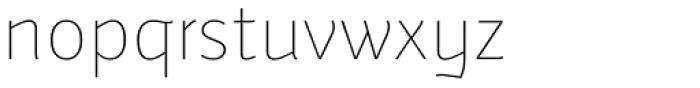 Weitalic Extra Light Font LOWERCASE