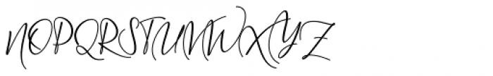 Wellington Regular Font UPPERCASE