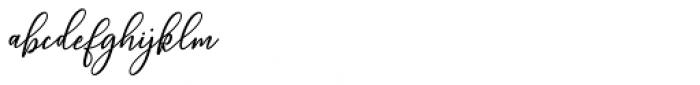 Wellington Regular Font LOWERCASE