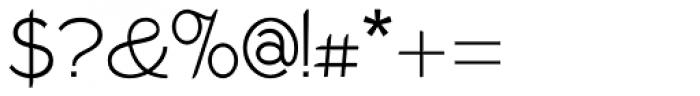 Wellmere Sans Light Font OTHER CHARS