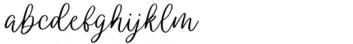 Wendling Regular Font LOWERCASE