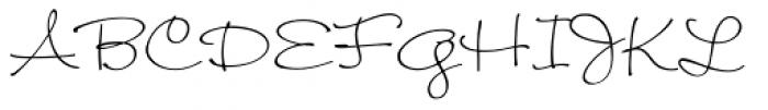 Wendy Light Font UPPERCASE