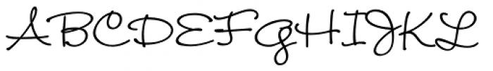 Wendy Medium Font UPPERCASE