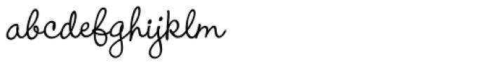Wendy Medium Font LOWERCASE