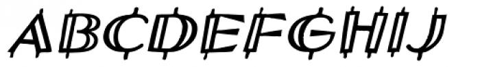 Wendy Woo Oblique Font UPPERCASE