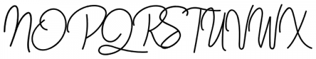 Westey Regular Font UPPERCASE