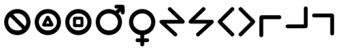 Wevli Dingbats Medium Font UPPERCASE