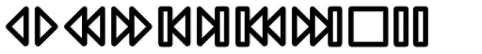 Wevli Dingbats Medium Font LOWERCASE