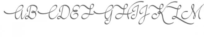 Wedding-Bells Font UPPERCASE