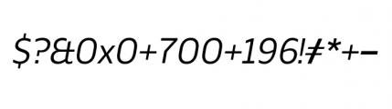Webnar Regular Italic Font OTHER CHARS