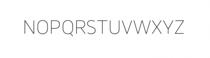 Webnar Thin Font UPPERCASE