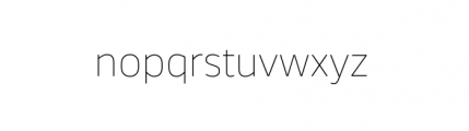 Webnar Thin Font LOWERCASE