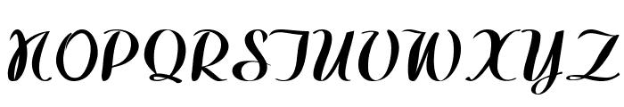 WestfieldBold Font UPPERCASE