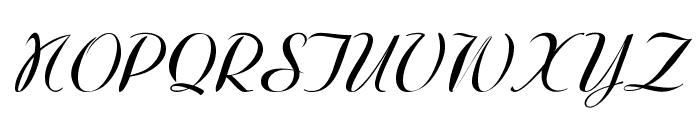 WestfieldItalic Font UPPERCASE