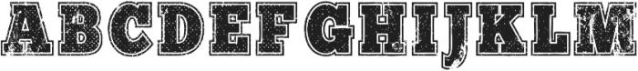 WG Varisty Scratched WG Varisty Scratched ttf (400) Font UPPERCASE