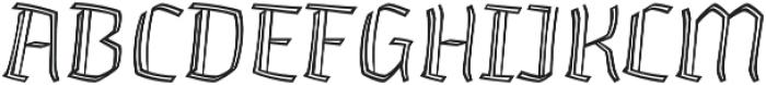 Whisky Inline 1230 Italic otf (400) Font UPPERCASE