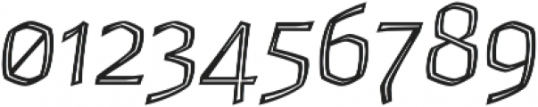 Whisky Inline 1340 Italic otf (400) Font OTHER CHARS