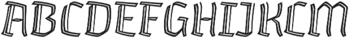 Whisky Inline 1340 Italic otf (400) Font UPPERCASE