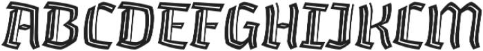 Whisky Inline 1560 Italic otf (400) Font UPPERCASE