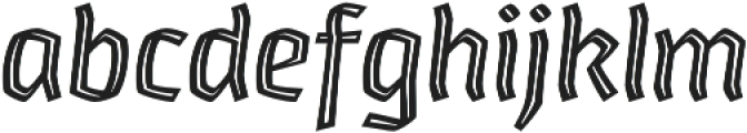 Whisky Inline 1560 Italic otf (400) Font LOWERCASE