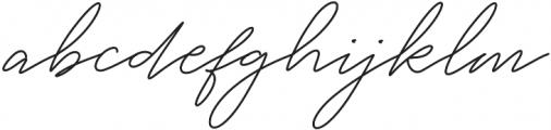 White Angelica Regular otf (400) Font LOWERCASE