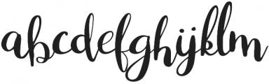 White Nights otf (400) Font LOWERCASE