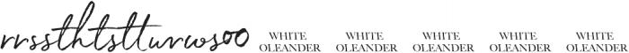 White Oleander Upright Extras ttf (400) Font UPPERCASE