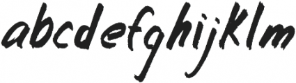 Whiteboard ttf (400) Font LOWERCASE