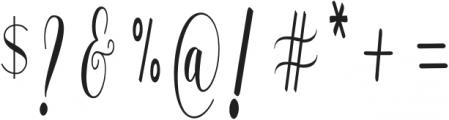 WhitelyaScript-Regular otf (400) Font OTHER CHARS