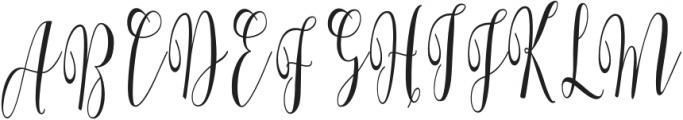 WhitelyaScript-Regular otf (400) Font UPPERCASE