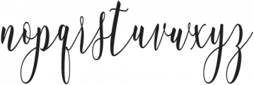 WhitelyaScript-Regular otf (400) Font LOWERCASE