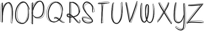 whitepicketfencesoutlined ttf (400) Font UPPERCASE