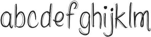 whitepicketfencesoutlined ttf (400) Font LOWERCASE