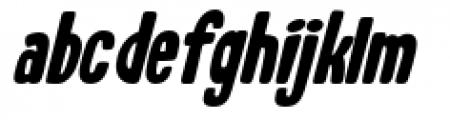 Whiskers Oblique Font LOWERCASE